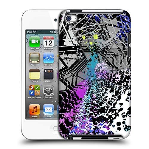 Offizielle Haroulita Kapputtes Glas Gemischte Designs 2 Harte Rueckseiten Huelle kompatibel mit Apple iPod Touch 4G 4th Gen