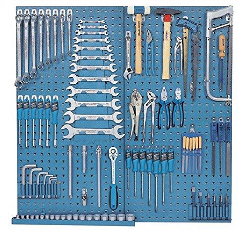 Werkzeugtafel 2Lochtafeln 1450L u.1500HS17 u.S1400GM mit Hakensortiment
