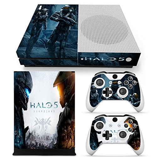 xbox one s halo 5 guardians vinyl decal skin cover stickers anti dust cover for console and 2. Black Bedroom Furniture Sets. Home Design Ideas