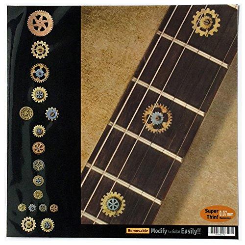 Griffbrett Marker Inlay Aufkleber Decals für Gitarre Bass-Steampunk Gears