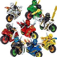 Nisels Kids Mini Bloques de construcción de Motocicleta de Dibujos Animados, pequeños Bloques de construcción, Juguetes educativos, Juguetes de educación temprana