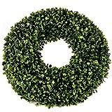 Buxus Deko Kranz Kunstpflanze 20x20cm grün Trend Design