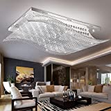 JJ moderna lámpara de techo LED moderno y minimalista rectangular LED lámpara de techo de cristal estudio atmosférico lámparas lámparas de comedor de carácter L65*W48*H17CM,220v-240v