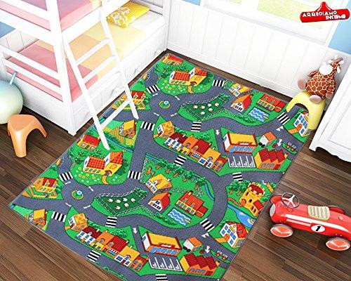 Tappeti Per Bambini Lavabili In Lavatrice : Tappeto gioco per bambini pista macchinine misure disponibili