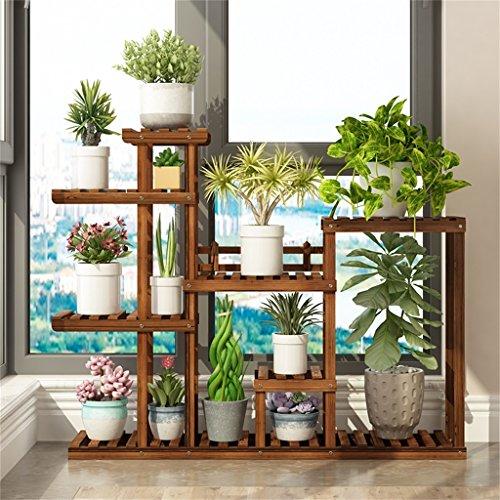 JNYZQ 7-Schicht blumenständer/Montage Blume Stand/Outdoor Pine Garten Hause blumenständer Balkon Rahmen Leiter Display-ständer (Farbe : A, größe : Charcoal Color) -