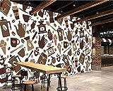 Yosot 3d Texture Cartoon Électrique Mug Cuillère Fourchette Photographie Salon Tv Wall Mini-Prix Papier Peint Décoration Murale-350Cmx245Cm