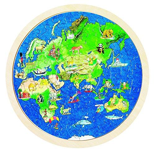 57666 - Einlegepuzzle - Weltkugel