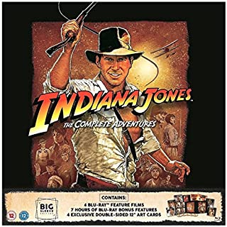 Indiana Jones: The Complete Adventures Blu-ray BIG SLEEVE EDITION. Includes 4 Exclusive Double-sided 12