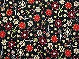 Weihnachten Candy Cane Print Baumwolle Stoff, Meterware,