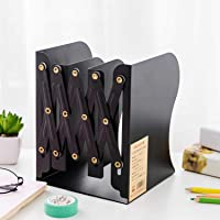 ABR HOUSE Expandable Desktop Bookend Stand Holder Bookcase Adjustable Book Holder Book Stand Desk Shelf