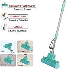 Ivaan Magic PVA Sponge Foam Mop for Best Home and Office Floor Cleaning with Telescopic Handle