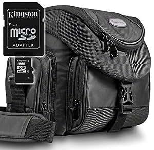 Kit Mantona Premium System Tasche schwarz + Speicherkarte Kingston Micro SDHC 16GB Class 10 (mit Adapter) !