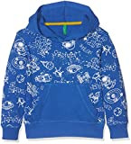 United Colors of Benetton Jungen hoodie W/Hood Mehrfarbig (Blue White Multi 904), 92 (Herstellergröße: 1Y)