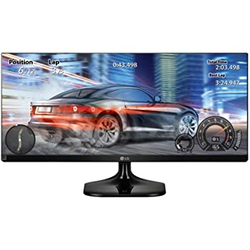 LG 25UM58-P  UltraWide - Monitor para PC Desktop  de 64 cm (25 pulgadas, Full HD, IPS, LED, 2560 x 1080 pixeles, 5 ms, 21:9, 200 cd/m2, Screen split) Color Negro