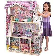 KidKraft 65079 Casa de muñecas de madera Annabelle para muñecas de 30 cm con 17 accesorios