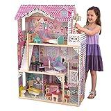 KidKraft 65079 Casa delle Bambole in Legno Annabelle per Bambole di 30 Cm con 17 Accessori Inclusi e 3 Livelli di Gioco