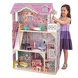 KidKraft 65079 Casa delle Bambole in Legno Annabelle per Bambole di 30 Cm con 17 Accessori Inclusi e