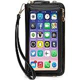 محفظة معصم للنساء شاشة تعمل باللمس ، RFID Blocking Clutch محفظة الهاتف حامل بطاقة جيب الهاتف المحمول