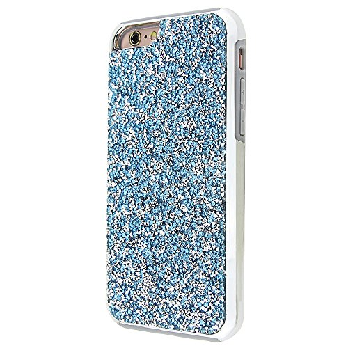 """Soft TPU Silicone Cover pour Apple iPhone 6/6s 4.7"""", CLTPY 2in1 Jelly Bling Diamant Série Case avec Plaquage Bord Incurvée Résistant Aux Rayures Couverture pour iPhone 6,iPhone 6s + 1x Stylet - Champa Bleu"""