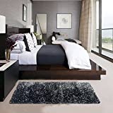 #8: Glamkaart Grey Shaggy Rug 2x5 Feet