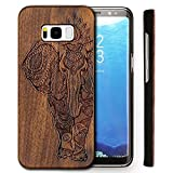 Bois Wood Coque Samsung Galaxy S8 Coque,Samsung Galaxy S8 Coque Housse étui de Protection pour Galaxy S8 Plus Case Naturel Bois Wood Case Etui Coquille Natural Original Bois Wood Material Coque