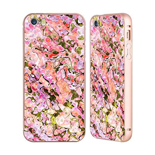 Ufficiale Shelly Bremmer Estate Astratto Colorato Oro Cover Contorno con Bumper in Alluminio per Apple iPhone 5 / 5s / SE Estate