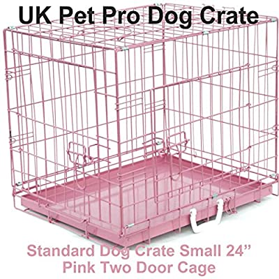 "Dog Crate Pink 24"" Small 60cm"