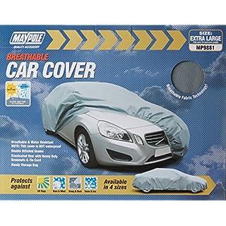 Maypole 9881 Breathable Full Car Cover, Grey, X-Large