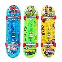 Demiawaking Baby Kinder 2X Mini Skateboard Spielzeug Fingerboard Tech Deck Jungen Kinder Geschenke