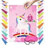 Pin The Horn on The Unicorn Party Game Birthday Party Favor Games Unicorn Party Supplies Party Supplies Unicorn Gifts…