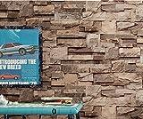 GAOMY Retro Einfach Unterdrückt Schäumenden 3D Brick Pattern Wallpaper - Bar Cafe Bekleidungsgeschäft Gewidmet (Nicht Selbstklebend),01