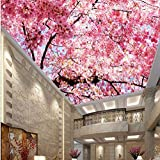 Wmbz Fototapete 3D Stereo Große Wandbilder Moderne Kunst Kirsche Wohnzimmer Schlafcouch Schlafzimmer Schöne Rosa Kirschbaum-450X300Cm