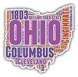 Ohio State Word Cloud USA Auto-Dekor-Vinylaufkleber 12 X 12 cm