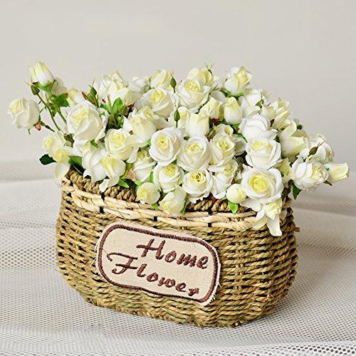 SE7VEN Wohnzimmer home dekor korb dekoration/klein frisch rose flower simulation flower set-D