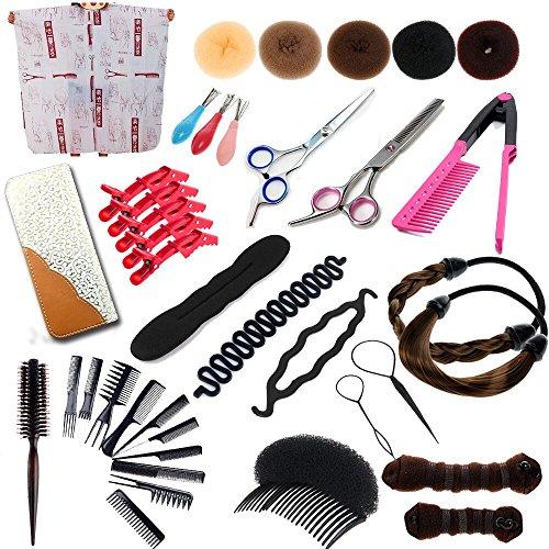 22pcs New Style Coiffure Outils Ciseaux Salon Formation cheveux Barber kits + Ensembles Braid