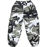 LOLANTA Pantalones Cargo de Camuflaje para niñas, Pantalones de Moda Streetwear de Cintura Alta para Adolescentes, Corte Holg