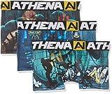 Athena Jungen Badehose Mood, 3er Pack, Mehrfarbig (BMX/Alien/Zombi), 14 Jahre