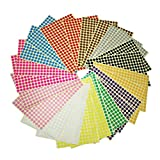 LJY 8mm Small Round Dot Stickers Sticky Colour Coding Labels, 12 Different Assorted Colors, 24 Sheets