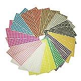 8mm kleine runde Punkt-Aufkleber klebrige Farbkodierung-Aufkleber, 12 verschiedene sortierte Farben, 24 Blätter