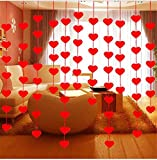 #9: CadetBlue Red Love Heart Curtain/Non-woven Garland Banner[TG057]