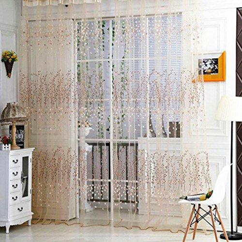 LCLrute 1 PC der Tulle-Tür-Fenster-Vorhang einzieht, drapieren Panel Sheer-Schal-Volants (Orange) (Mädchen Schlafzimmer Schabracken)