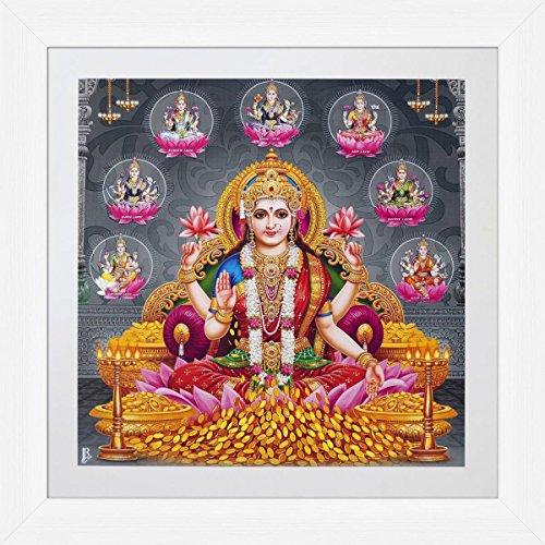 avercart-goddess-laxmi-shri-lakshmi-laxmiji-goddess-of-wealth-poster-30x30-cm-with-photo-frame-12x12