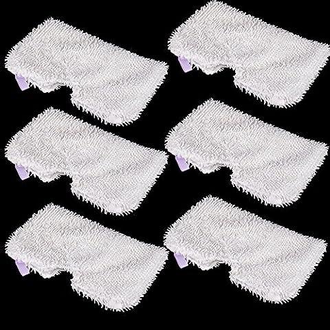LOVE(TM)6pcs Cuscinetti di ricambio del vapore dello serie Pocket Mop S3500, S3601, S3550 e S3901 domestica microfibra polvere spazzole di rilievo