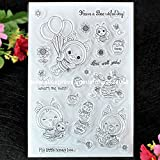 Have a Beeutiful Day Bee Well Soon Scrapbook DIY Foto Karten Gummi Stempel Clear Stamp transparent Stempel 10 x 15 cm