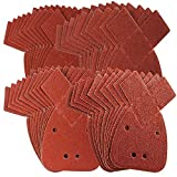 Defender Tools 40 Mouse Sanding Sheets to Fit Black and Decker Detail Palm Sander All Grades 40 Mixed Grit Pack 40 60 80 120 Grits