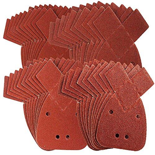 Defender-Tools-Schleifblätter für Maus, passend für Black & Decker-Detail-Handschleifer, alle Körnungen 40, 60, 80, 120, 40 Stück.