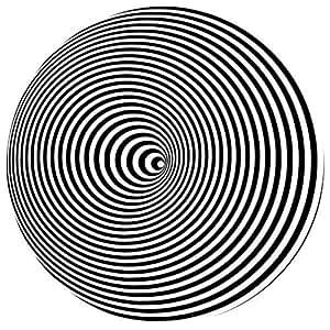 """Disque de feutrine tapis pour CD DJ illusion cercles x1 (Simple) - Enregistrement DJ Vinyl 12"""" / 30cm mixeur techniques dmc pioniers feutre hip hop tambour et basse vieille école transe plaque base techno"""