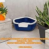 Ferplast Katzentoilette Dama für Raumecken – Robuste Katzentoilette mit hohem, abnehmbarem Rand für eine hygienische Reinigung – Farbe: Schwarz – Maße: 57,5 x 51,5 x 22 cm - 3