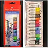 Faber-Castell Acrylic Color Box - 12 Shades (Assorted )