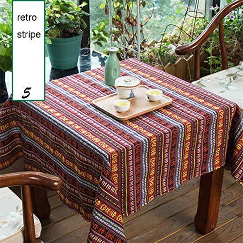 ONECHANCE El sofá étnico mantel étnico tela algodón